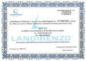 certyfikat Landirenzo