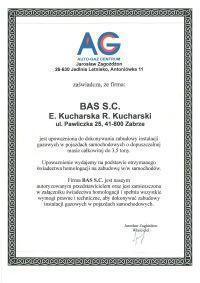 certyfikat ag 2