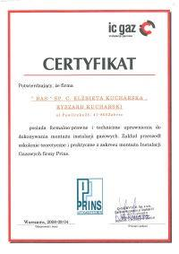certyfikat ic gaz