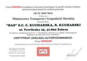 certyfikat zakładu autoryzowanego