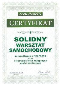 certyfikat solidny warsztat samochodowy