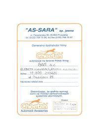 certyfikat as-sara